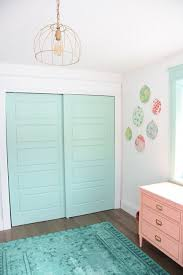 A Baby Girlu0027s Mint And Pink Nursery