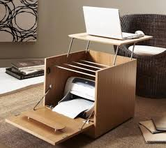 small portable office. Creative Portable Home Office Desk With Printer Storage For Small Spaces Ideas