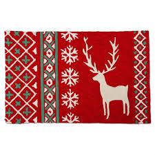 alpine sweater stag plush rug
