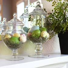 Apothecary Jar Decorating Ideas RealHome Spring and Easter Mantel Decorating Ideas Apothecary 79