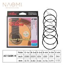 <b>Naomi</b> 1 <b>set</b> Alice AC136BK H Black Nylon Classical <b>Guitar</b> Strings ...