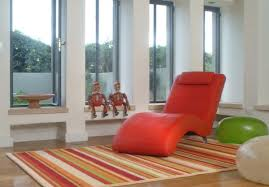 View in gallery Colorful chaise lounge in red for a fun and playful look