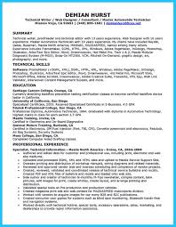 Gallery Of Writing A Concise Auto Technician Resume Mechanic