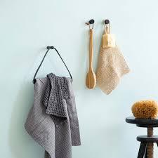Towel Hanger By Wirth Towel Hanger Leather Oak Black