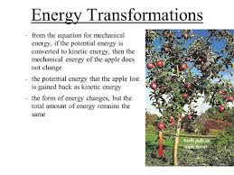 46 energy transformations from the equation for mechanical