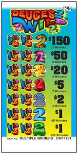 Deuce Ticket Vending Machine Locations New Deuces Wild American Games Pull Tab Tickets Pull Tab Ticket