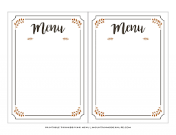 008 Template Ideas Menu Free Printable Dinner Party
