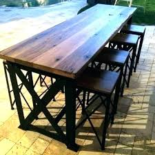 tall outdoor table tall patio set ou bistro table sets pub furniture high top deck bar