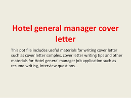Hotel General Manager Cover Letter Effective Housekeeping Resume For