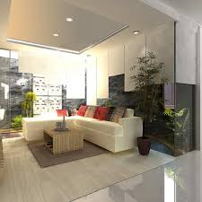 tropical living rooms:  stunning tropical living room themes with modern white leather sectional sofa and recessed lighting ideas