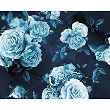Ohpopsi Wallpaper Mural-Blue Roses