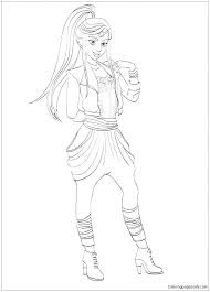 Disney Descendants Coloring Pages Printable Also Coloring Pages