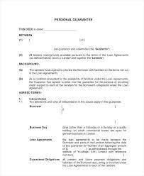 Letter Of Guarantee For Loan Sample Borrowing Money Borrow