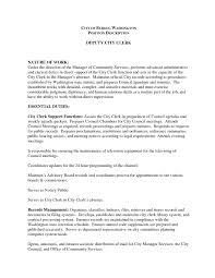 Accounting Clerk Resume Sample Best Of Deputy City Clerk Cover