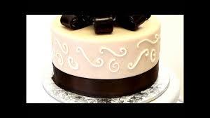 Brown Wedding Cake Simple Wedding Cake Design Fondant Cake Youtube