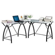 office depot l shaped desk. realspace alluna collection glass lshape desk black framefrosted office depot l shaped e
