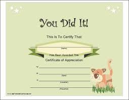 parenting certificate templates 12 best awards images on pinterest printable certificates award