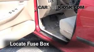 interior fuse box location 2003 2008 toyota corolla 2007 toyota locate interior fuse box and remove cover