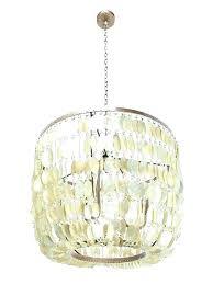 pendant light 3 inverted shell chandelier west flower capiz elm pen spacious pendant light