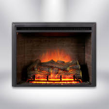 dynasty fireplaces 32 in led electric fireplace insert in blackled electric fireplace insert in black matt