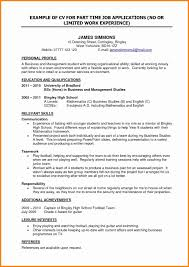 How To Make A Resume With No Experience Elegant Part Time High