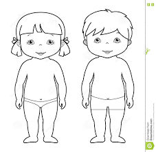 Small Picture Vector Coloring Page Of Cute Baby Boy And Girl Stock Vector
