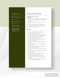 Hotel Chief Engineer Resume Template Download 4804 Resumes