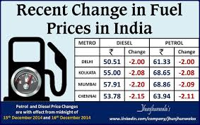 Fuel Price Chart 2014 India Fuel Price Change Chart For Petrol And Diesel For 2014