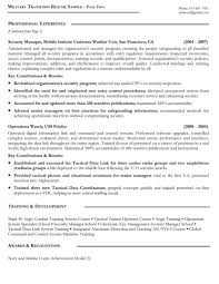 Military Resume Samples Examples Writers Sample Format Sevte