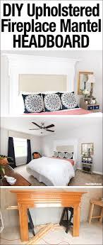 diy upholstered fireplace mantel headboard