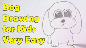 Small Picture How to draw a dog for kids YouTube