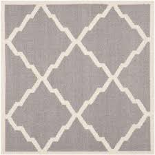 dhurries grey ivory 8 ft x 8 ft square area rug