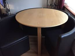 next round table chair fit around and under in good condition