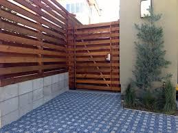 Modern Wood Fence Style