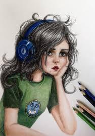 арт картинки девушек для срисовки