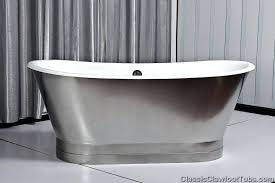 stainless steel bathtub cast iron double ended stainless steel slipper pedestal tub oxo good grips stainless