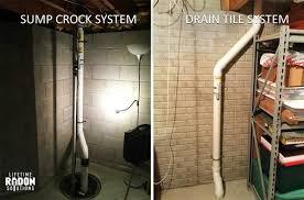 sump crock radon mitigation