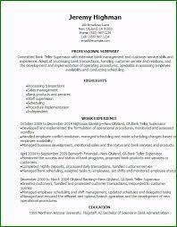Bank Teller Description For Resumes 46 Astonishing Bank Teller Resume Examples For Your Inspiration