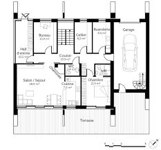 maison moderne d architecte marcin wiacek architecte esquisse 3d du plan 170 m²