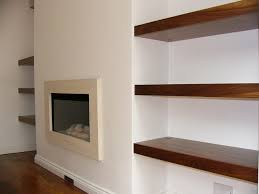 Chunky White Floating Shelves maybe one or 100 whitegrey shelves in alcoves in dining room 81