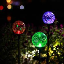 fullsize of congenial garden patio backyard gigalumi outdoor solar garden lights 3 pack ed glass ball