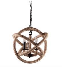 rope sphere pendant lamp