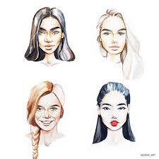 art drawing portrait watercolor fashionilration howtodraw face