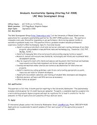 Graduate Program Cover Letter Graduate Assistantship Cover Letter Camelotarticles Sample Cover