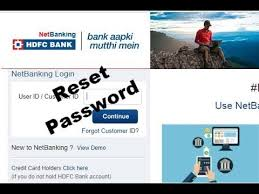 how to reset hdfc netbanking pword