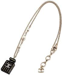 chanel chanel chanel no 5 pendant necklace black perfume bottle charm top here mark black x gold white pearl cc mark accessories pendant necklace crystal