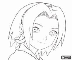 Small Picture Sakura Haruno a ninja from Naruto coloring page printable game