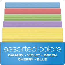 Amazon Com Oxford Ruled Color Cards 5 X 8 Assorted Colors