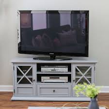 grey entertainment center. Grey Wood Entertainment Center TV Stand Cabinet With Adjustable Audio Video Shelves