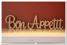 Bon Appetit Wall Decor Plaques Signs 100 AUD Custom Made Freestanding Wooden Words Bon Appetit 100cm 69